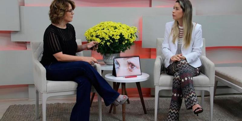 Participação em mais uma entrevista no programa manhã total, da TV paranaíba, com a Mônica Cunha